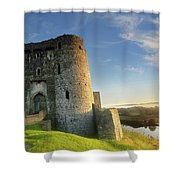 Kidwelly Castle 3 Shower Curtain