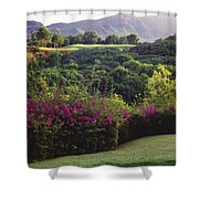 Kiele Course, Flowers And Vegetation Shower Curtain