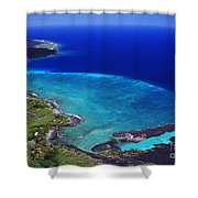 Kiholo Bay Aerial Shower Curtain