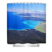 Kiholo Bay, Aerial View Shower Curtain