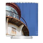 Kilauea Lighthouse Against The Sky Shower Curtain