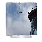 Kilauea Lighthouse And Bird Shower Curtain