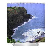 Kilauea Lighthouse And Bird Sanctuary Shower Curtain