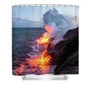 Kilauea Volcano Lava Flow Sea Entry 3- The Big Island Hawaii Shower Curtain