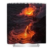 Kilauea Volcano Lava Flow Sea Entry - The Big Island Hawaii Shower Curtain