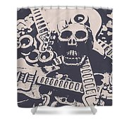 Kill The Music Industry Shower Curtain