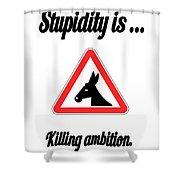 Killing Bigstock Donkey 171252860 Shower Curtain