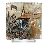 Killing Fields Museum Cambodia  Shower Curtain
