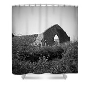 Kilmanaheen Church Ruins Ennistymon Ireland Shower Curtain