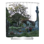 Kilmokea Graveyard Shower Curtain