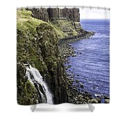 Kilt Rock On The Isle Of Skye Shower Curtain