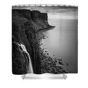 Kilt Rock Waterfall Shower Curtain