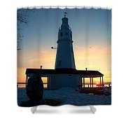 Kimberly Pointe Lighthouse Shower Curtain
