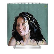 Kimie In Acrylics Shower Curtain