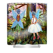 Kimlee And Kate Lorraine Shower Curtain
