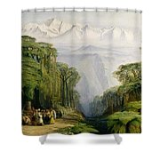 Kinchinjunga From Darjeeling Shower Curtain