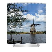 Kinderdijk Windmill Shower Curtain