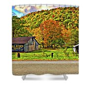 Kindred Barns Painted Shower Curtain