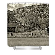Kindred Barns Sepia Shower Curtain