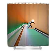 Kinfluxing Shower Curtain