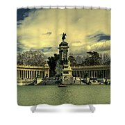 King Alfonso Monument  Shower Curtain