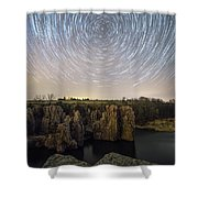 King And Queen Star Trails Shower Curtain