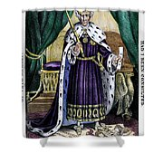King Andrew The First Shower Curtain