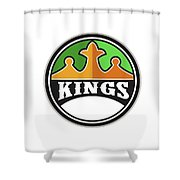 King Crown Kings Circle Retro Shower Curtain