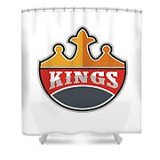 King Crown Kings Retro Shower Curtain