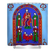 King David And His Musicians Shower Curtain