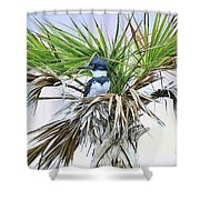 King Fisher Palm Shower Curtain