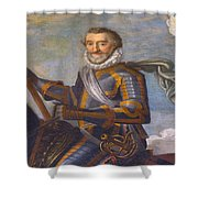 King Henry 4 Portrait Shower Curtain