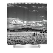 King Homestead_bw-1593 Shower Curtain