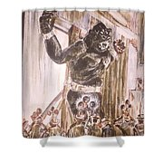 King Kong - Flashbulbs Anger Kong Shower Curtain