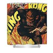 King Kong Shower Curtain by Georgia Fowler