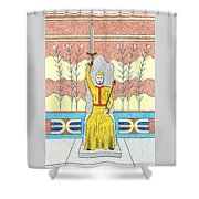King Minos Shower Curtain