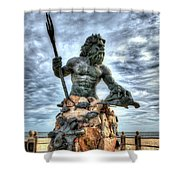 King Neptune Virginia Beach  Shower Curtain