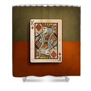 King Of Diamonds In Wood Shower Curtain