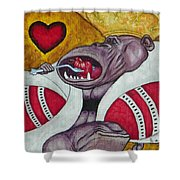 King Of Heartbreak Shower Curtain