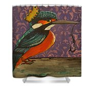 King Of Kingfishers Shower Curtain