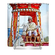 King Of Rex And Page - Mardi Gras New Orleans Shower Curtain
