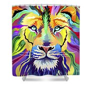 King Of Techinicolor Variant 1 Shower Curtain