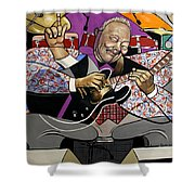 King Of The Blues Shower Curtain