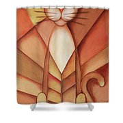 King Of The Cats Shower Curtain by Jutta Maria Pusl