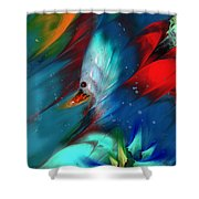 King Of The Swans Shower Curtain