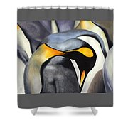 King Penquins Shower Curtain