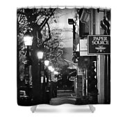 King Street At Night - Old Town Alexandria Shower Curtain
