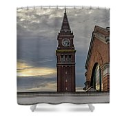King Street Station Clock Tower Shower Curtain