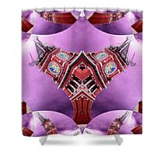 King Street Station In Fractal 2 Shower Curtain