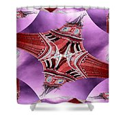 King Street Station In Fractal Shower Curtain